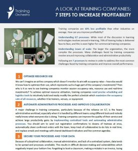 7 steps to increase profitability for training companies