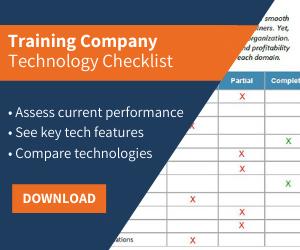 training business software checklist