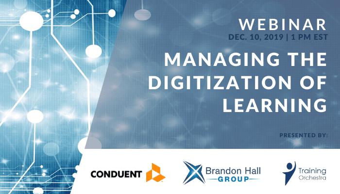 webinar - managing digitization of learning and ILT