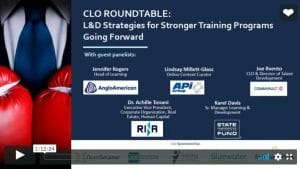 training strategies - clo roundtable