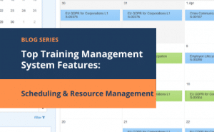 training management system features training scheduling and resource management