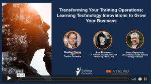 transforming training operations learning technology innovations to grow your business webinar on demand with training orchestra and intrepid